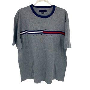 Tommy Hilfiger Men's Gray/Blue/Red Short Sleeve T-Shirt size XL